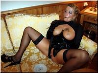 Smoking Lady in black PVC Bod