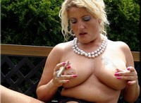Nylons and a cigar