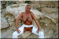 Sheilagirl - White Leather Outfit