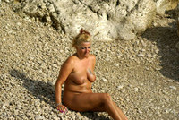 Sheilagirl - Naked on the beach