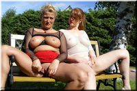Two hot ladies outdoor