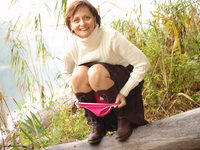Kirsty in Panties - Outdoors in Pantyhose