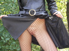 Sexy Alina - Outdoor in Leather