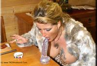 Fur Girl Smoke and a Stea