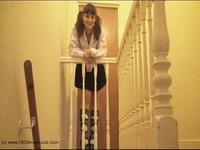 Kirsty in Panties - Up skirt Panty Flashing