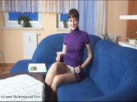Kirsty in Panties - Kirstys Sofa Tease