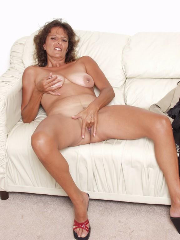 British milf shows off gorgeous body and has dildo fun 7