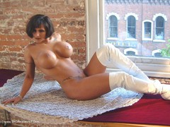 Corina Curves - White Pleather Gallery