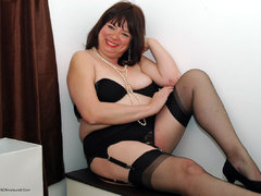 Mature Stockings - BBW in Black Nylons Gallery