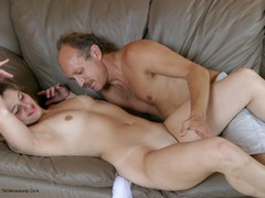 Squirt Queens - Stacey gets licked by an older guy movie Video