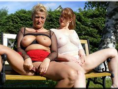 Sheilagirl - Two hot ladies outdoor Gallery