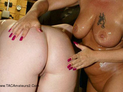 Sheilagirl - Two Hot Girls and Body Oil Free Pic 1