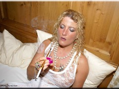 Sheilagirl - Hot Smoking in Bed Gallery