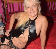 Leathettes - Lil Minx in PVC and chain dress Gallery