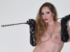Leathettes - Sophia and her riding whip Gallery